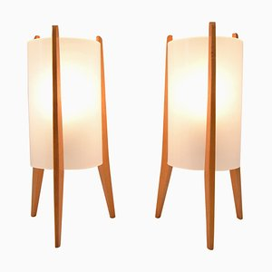 Rocket Table Lamps from Pokrok Zilina, 1970s, Set of 2