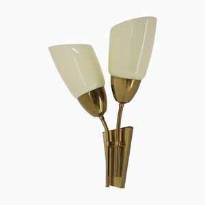 Messing Wandlampe von Kamenicky Senov, 1970er