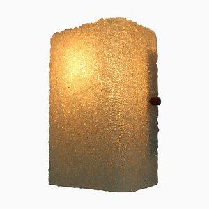 Eisglas Lampe aus Kunststoff, Tschechoslowakei, 1960er