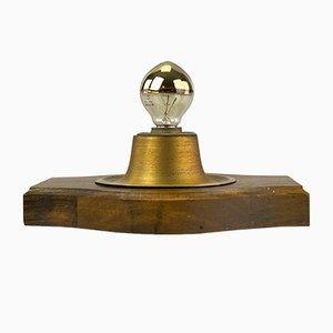 Messing Wandlampe, 1960er