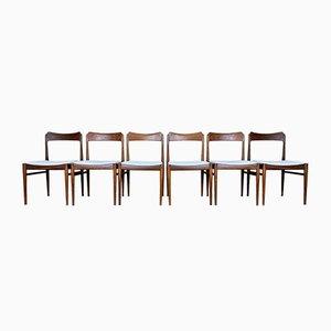 Dänische Teak Stühle, 1970er