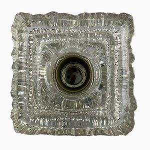 Glas Wandlampe von Peill & Putzler, 1960er