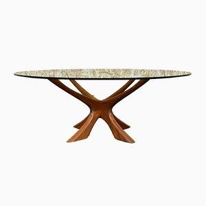 Tavolino da caffè in teak di Illum Wikkelso, anni '60