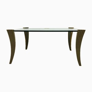 Brutalist Bronze Coffee Table by Peter Ghyczy, 1960s
