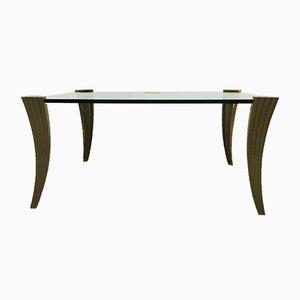 Tavolino da caffè brutalista in bronzo di Peter Ghyczy, anni '60