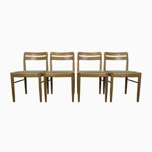 Sedie da pranzo in quercia di HW Klein per Bramin, Danimarca, anni '60, set di 4