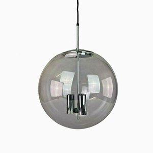 Große kugelförmige Deckenlampe von Limburg, 1960er