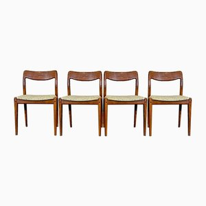 Teak Dining Chairs by Johannes Andersen for Uldum, 1960s, Set of 4