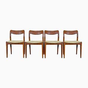 Teak Esszimmerstühle von Johannes Andersen für Uldum, 1960er, 4er Set