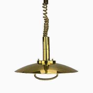 Metal Brass Ceiling Lamp, 1970s