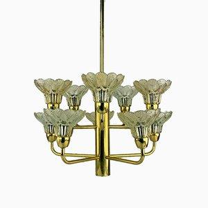 Glas Deckenlampe, 1960er