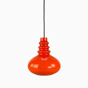 Glass Hanging Lamp from Peill & Putzler, 1960s