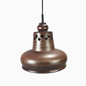 Braune Deckenlampe aus Keramik, 1960er