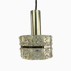 Glass Ceiling Lamp from Sölken Leuchten, 1970s