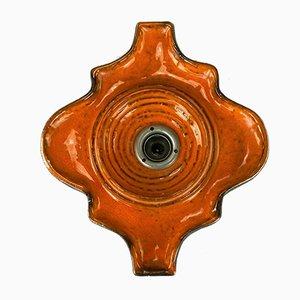Keramik Wandlampe, 1970er