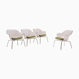 Luta Stühle in Weiß & Grün von Antonio Citterio für B&B Italia / C&B Italia, 4er Set, 2000