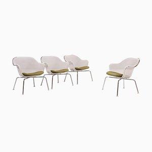 Luta White and Green Accent Chairs by Antonio Citterio for B&B Italia / C&B Italia, Set of 4, 2000