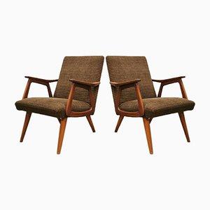 Niederländische Vintage Sessel von Louis Van Teeffelen für Wébé, 2er Set