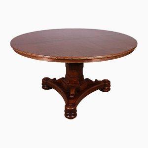 Tavolo da colazione in noce con ripiano in rame, metà XIX secolo