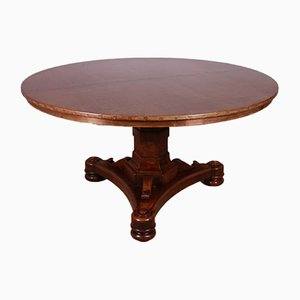 Walnut Breakfast Table with Copper Top, 1860s