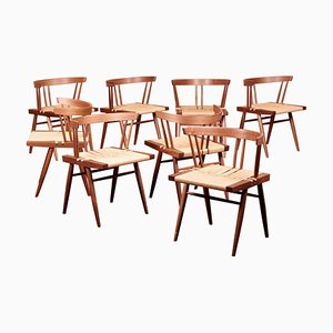 Grass Seated Dining Chairs by George Nakashima Studio, USA, 2021, Set of 8