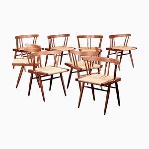 Sedie da pranzo Grass di George Nakashima Studio, USA, 2021, set di 8