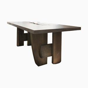 Massiver Tisch von Charlotte Besson-Oberlin