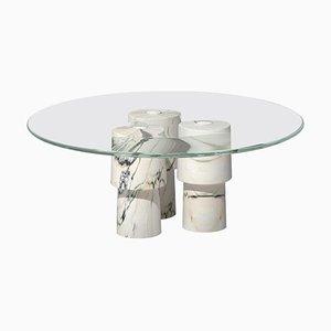 Mesa de centro baja de mármol de Samuele Brianza