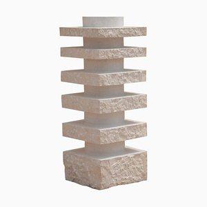Layers Kalkstein Vase von Dessislava Madanska für Design M