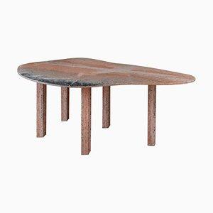 Mesa de comedor de mármol en forma de pera de Lorenzo Bini