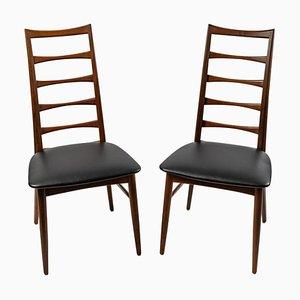 Dänische Modell Lis Beistellstühle aus Teak, 2er Set
