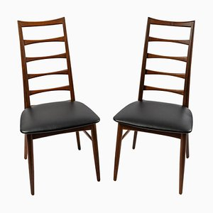 Danish Teak Model Lis Side Chairs, Set of 2