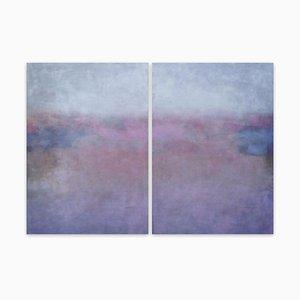 Clair de Lune, abstraktes Gemälde, 2021