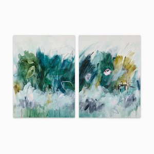 Subtropisches, abstraktes Gemälde, 2019