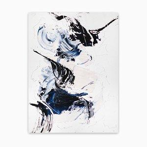 Terciopelo azul 8, Obra abstracta en papel, 2020