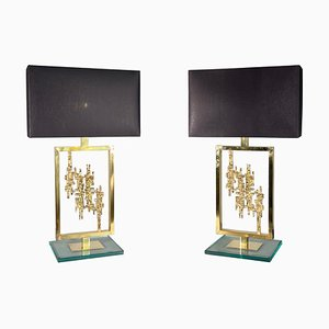 Bronze Table Lamps by Luciano Frigerio, Italy, 1980s, Set of 2