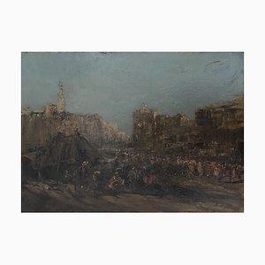 Edouard Jacques Dufeu Vista de una ciudad en Oriente Medio, 1900