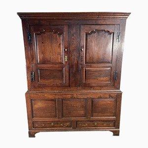 Early Antique Oak Cupboard, 1720s