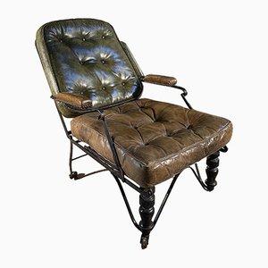 Sedia antica in pelle