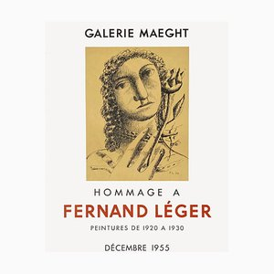 Expo 55 Galerie Maeght Poster von Fernand Leger
