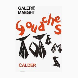 Poster Expo 66 Galerie Maeght di Alexandre Calder