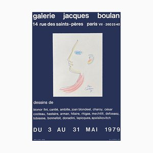 Expo 79 Galerie Jacques Boulan Plakat von Jean Cocteau