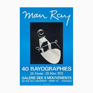 Poster Expo 72 Galerie des 4 Mouvements 40 rayographies di Man Ray