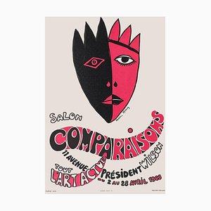 Poster Expo 68 Salon Comparaisons Tout l'art actuel di Man Ray