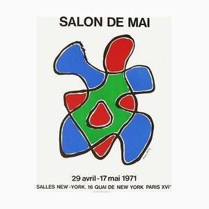 Poster Expo 71 Salon De Mai di Man Ray
