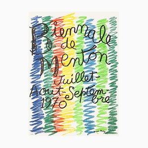 Expo 70 Biennale de Menton Poster von Man Ray