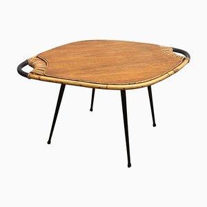 Tavolino da caffè Mid-Century in bambù