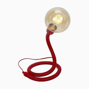 Lampada a molla flessibile rossa con lampadina a LED
