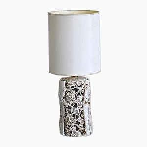 Table Sculptural Lamp with Enamelled Ceramic Structure, 1960s
