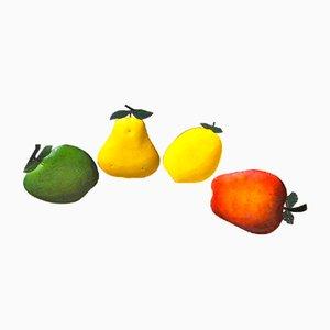 Italienische Obsthalter aus emailliertem Metall, 1940er, 4er Set